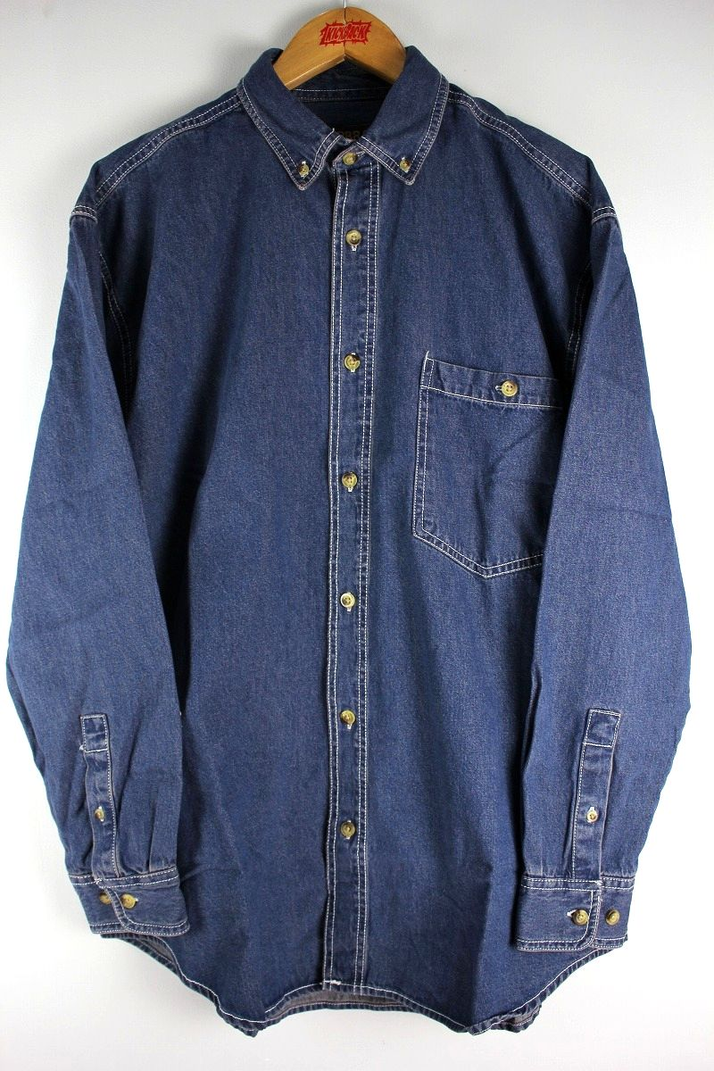 COBRA CAPS / RELAX FIT LS DENIM SHIRTS / indigo