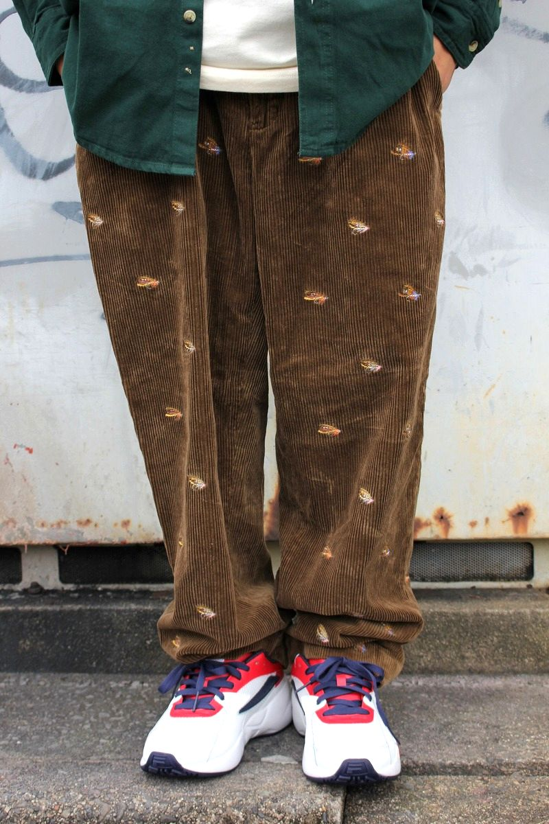 """USED!!! POLO RALPH LAUREN / """"FLY"""" WIDE WALE CORDUROY PANTS (90'S) / brown"""