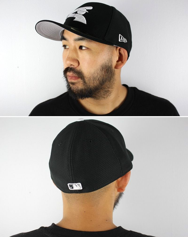 """NEWERA / """"CHICAGO WHITE SOX"""" LOW PROFILE FITTED CAP / black"""
