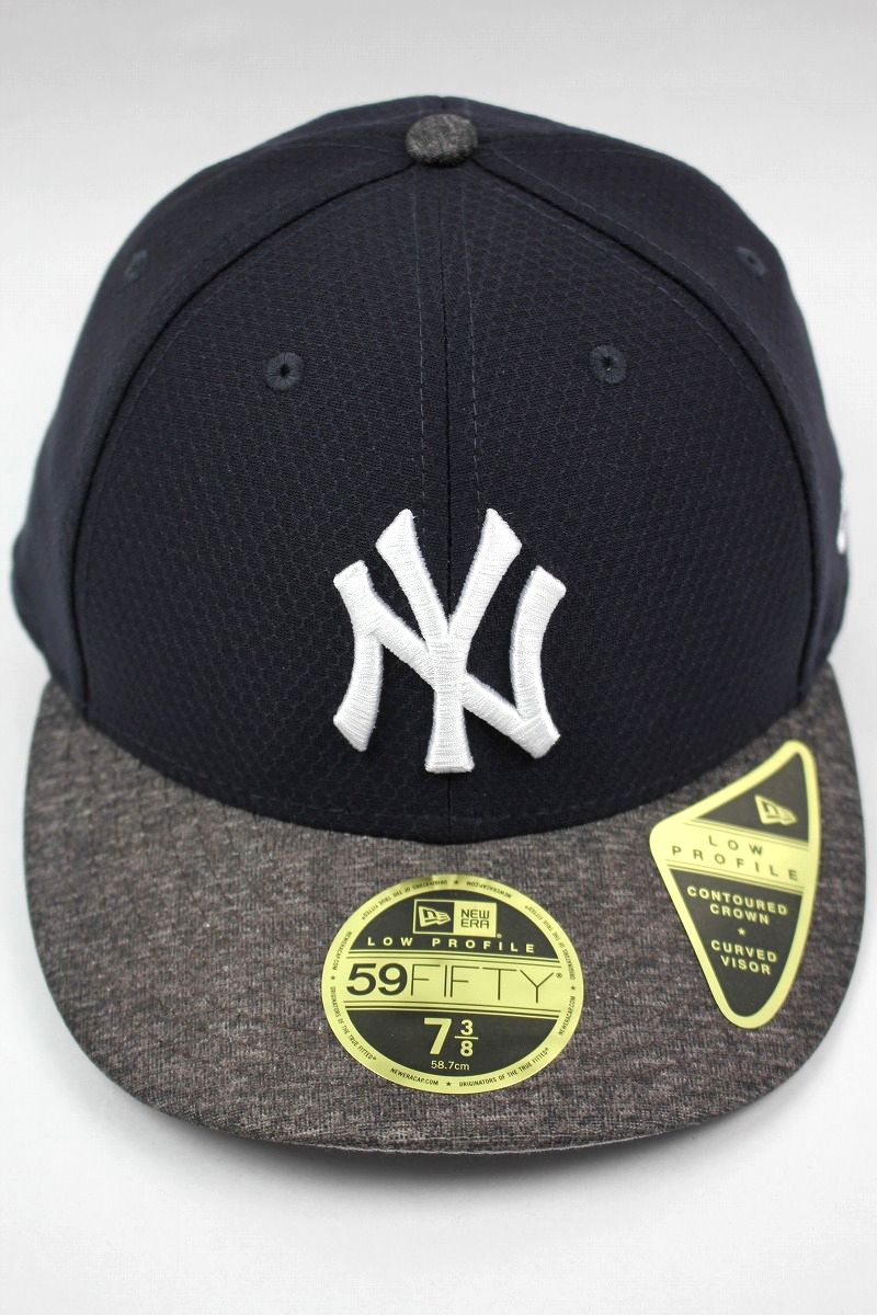 "NEWERA / ""NEWYORK YANKEES"" PROFILE FITTED CAP / navy×reddish heather grey"