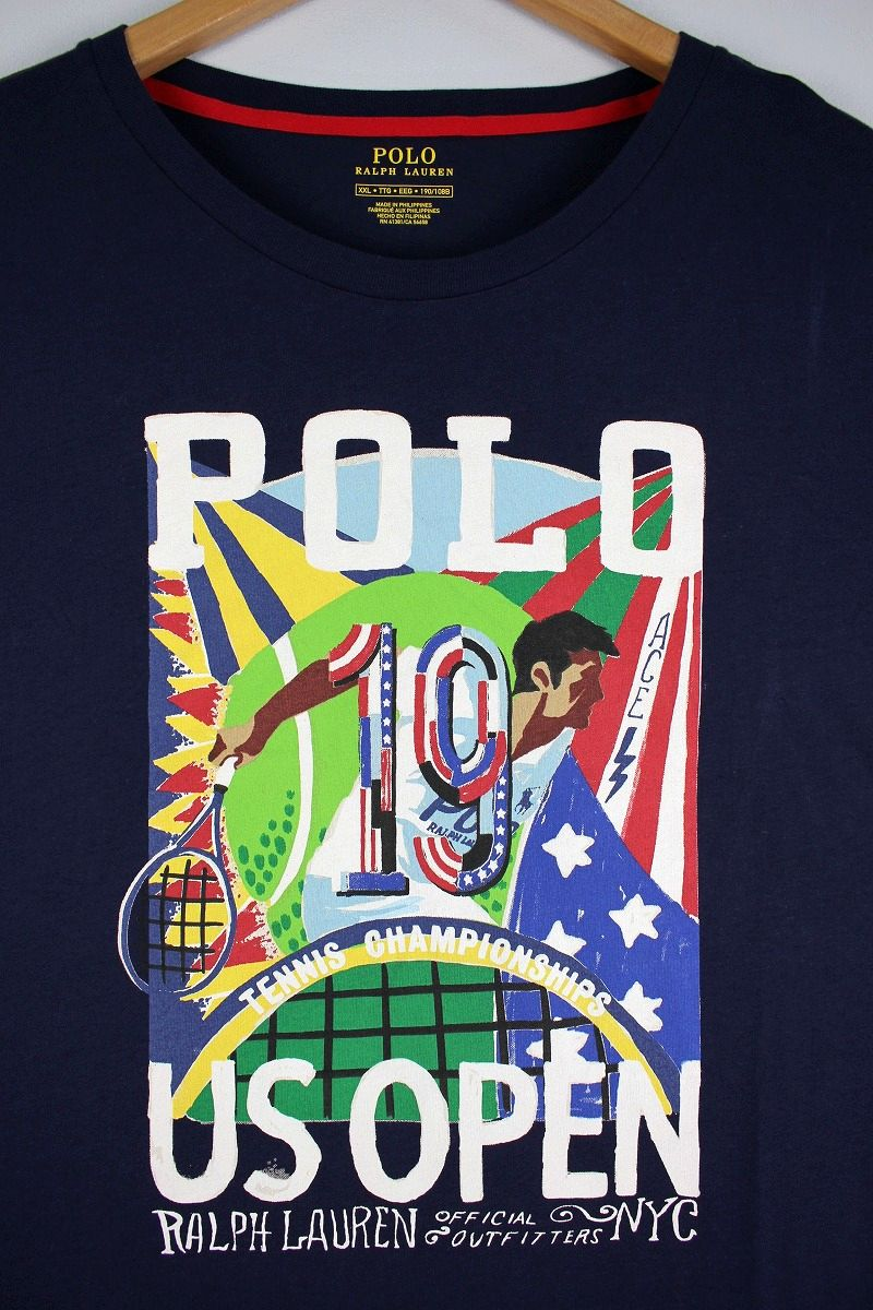 "POLO RALPH LAUREN / ""US OPEN 2019"" OFFICIAL Tee / navy"