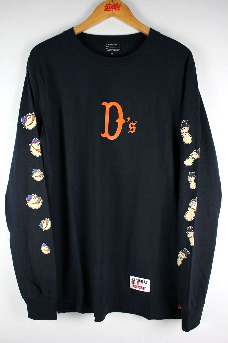 "ACAPULCO GOLD / ""NUTTY"" LS Tee / navy"