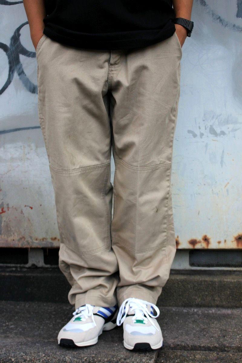 USED!!! CARHARTT / W KNEE WORK CHINO PANTS (00'S) / khaki