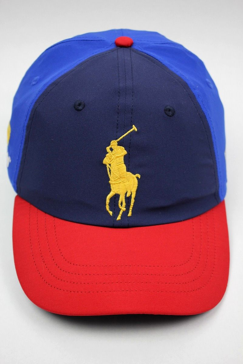 "POLO RALPH LAUREN / ""US OPEN"" NYLON STRAPBACK CAP / navy×blue×red×green"