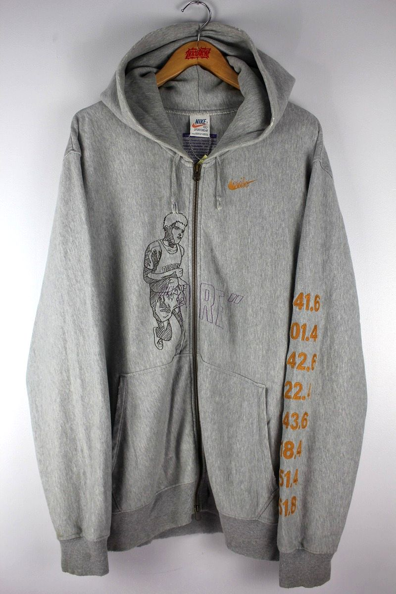 "USED!!! NIKE / ""PRE"" ZIP-UP SWEAT HOODY / heather grey"