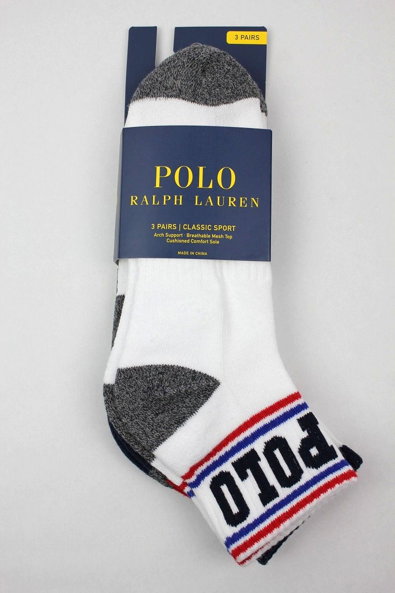POLO RALPH LAUREN / AMERICANA ANKLE SOCK 3-PACK