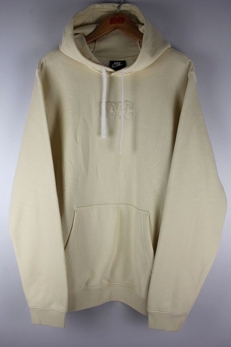 "NIKE / ""NYC"" PULLOVER SWEAT HOODY / cream"