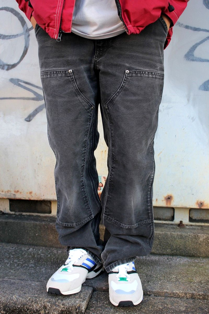 USED!!! CARHARTT / PAINTER PANTS (00'S) / washed black