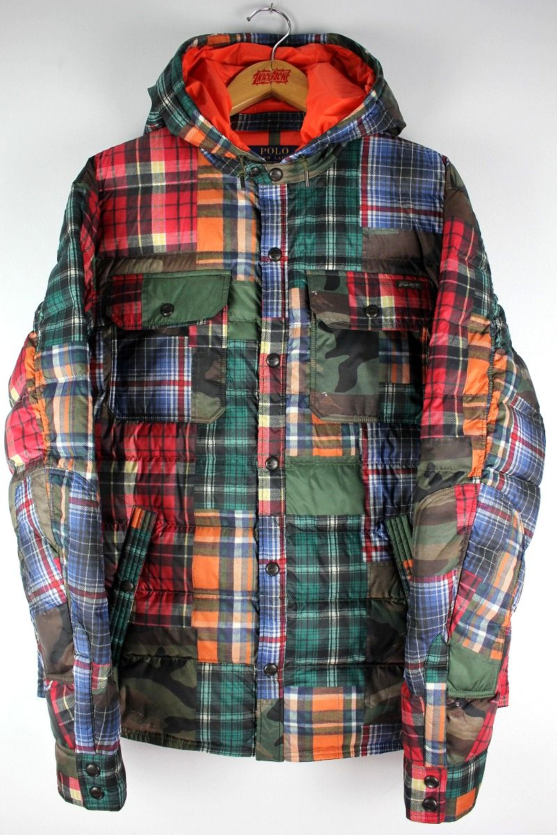 POLO RALPH LAUREN / PATCHWORK DOWN JACKET / multi