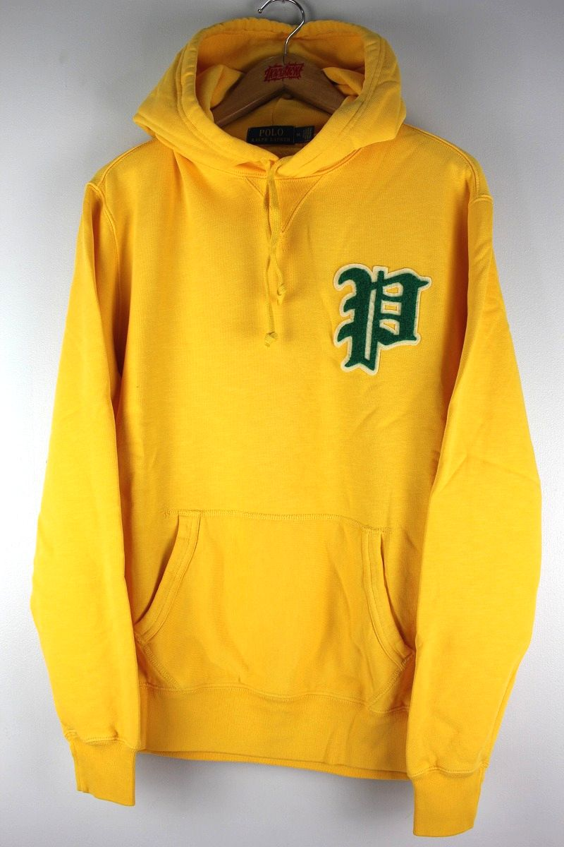 "POLO RALPH LAUREN / ""OLD P"" PULLOVER SWEAT HOODY / yellow"