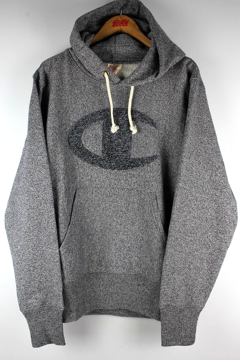 "CHAMPION / ""REVERSE WEAVE"" PULLOVER SWEAT HOODY / pepper heather grey"