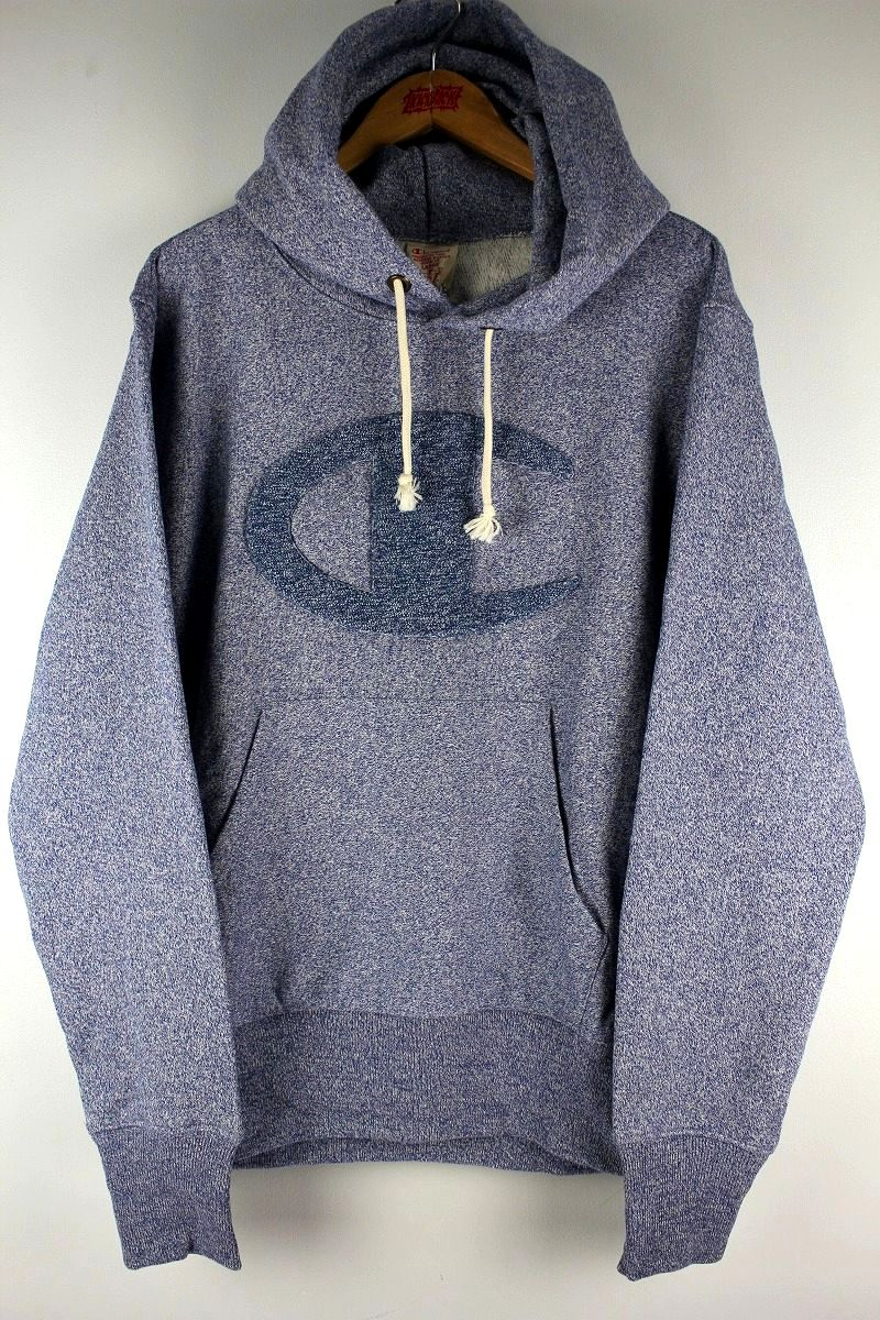 "CHAMPION / ""REVERSE WEAVE"" PULLOVER SWEAT HOODY / blue heather"