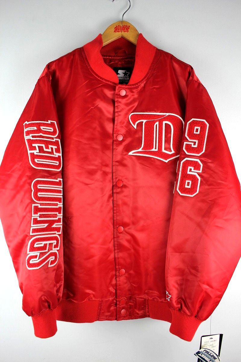 "STARTER BLACK LABEL / ""DETROIT RED WINGS"" NYLON STADIUM JACKET / red"