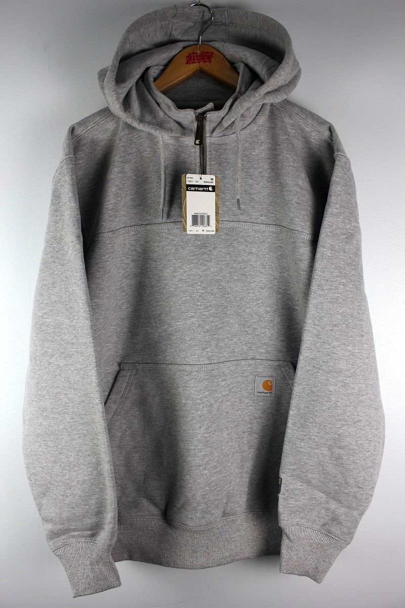CARHARTT / RAIN DEFENDER® PAXTON HEAVYWEIGHT HOODED ZIP MOCK SWEATSHIRT / heather grey