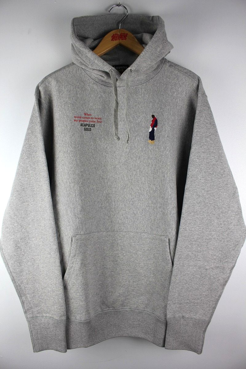 "ACAPULCO GOLD / ""BETTER REALIZE"" PULLOVER SWEAT HOODY / heather grey"