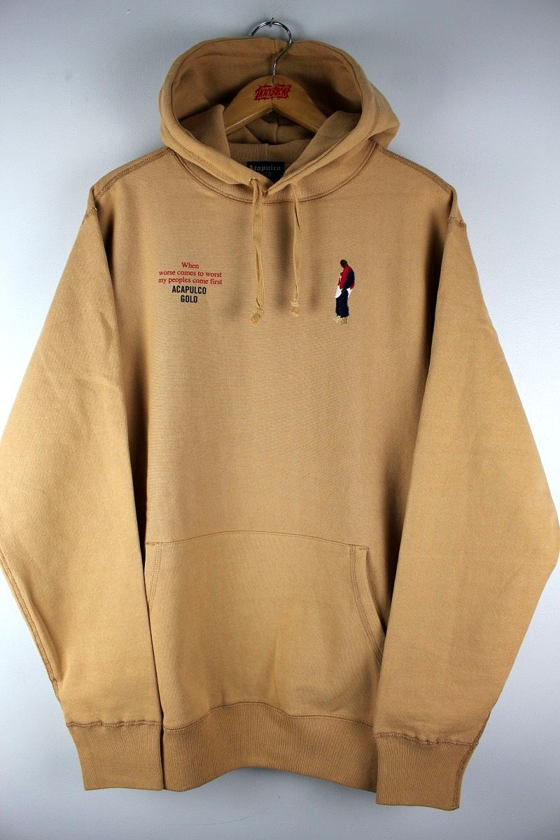 "ACAPULCO GOLD / ""BETTER REALIZE"" PULLOVER SWEAT HOODY / beige"