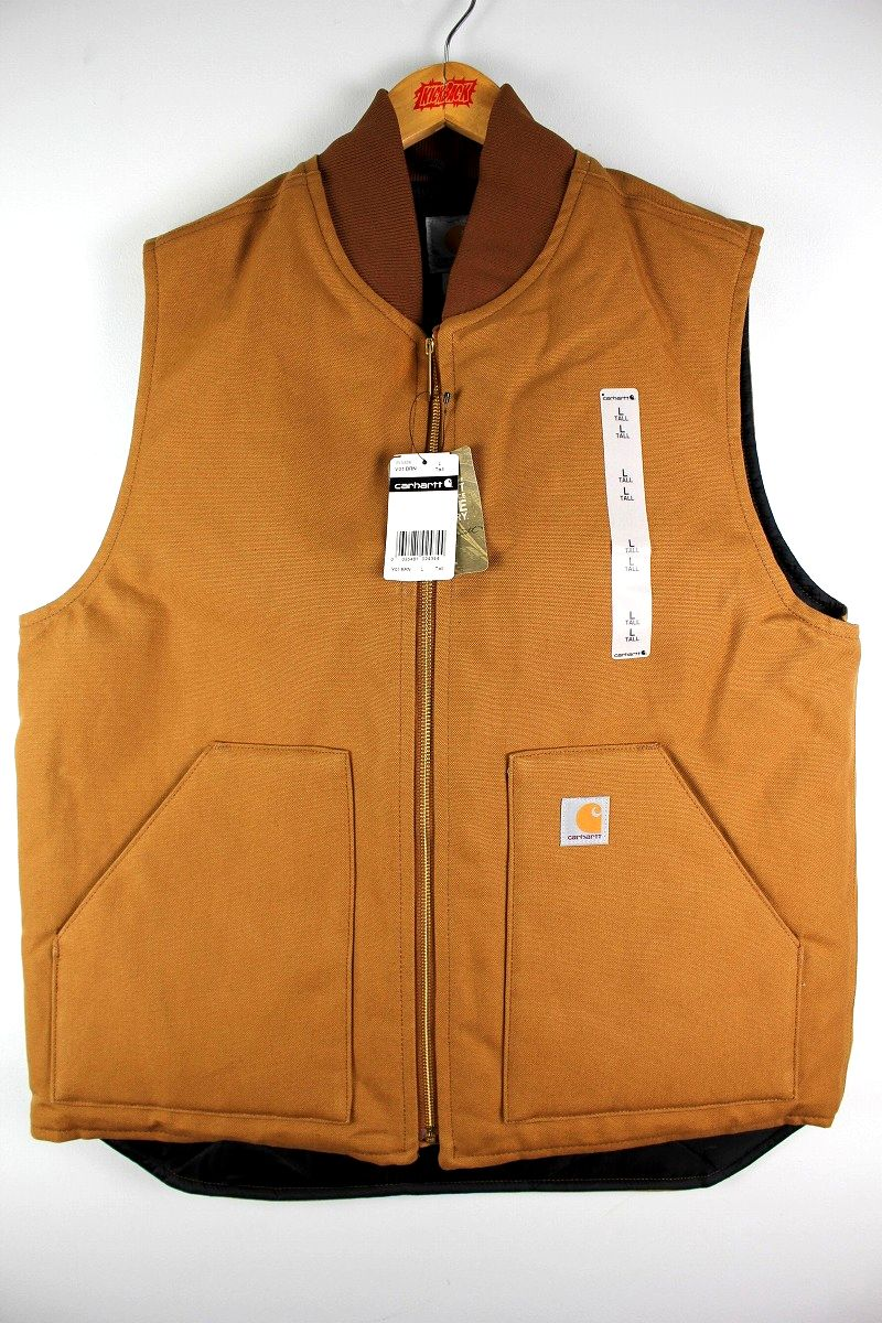 CARHARTT / DUCK VEST (TALL-SIZE) / carhartt brown
