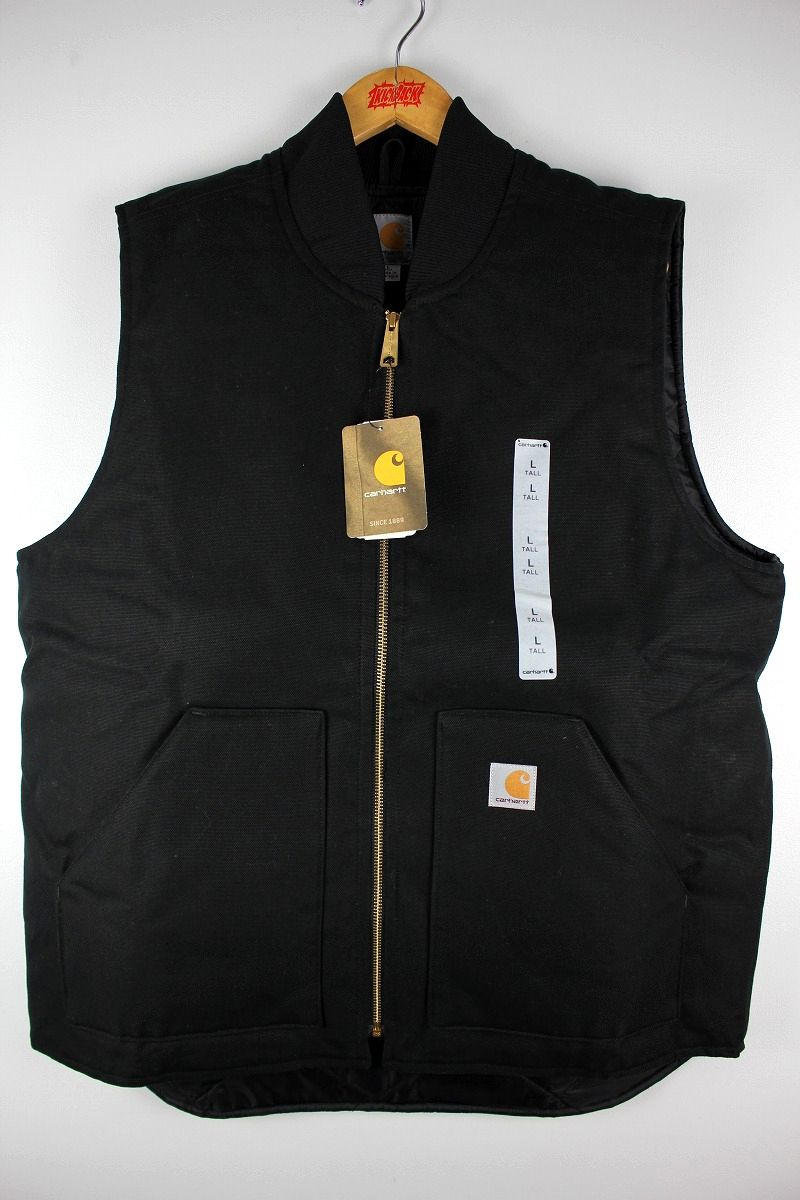 CARHARTT / DUCK VEST (TALL-SIZE) / black