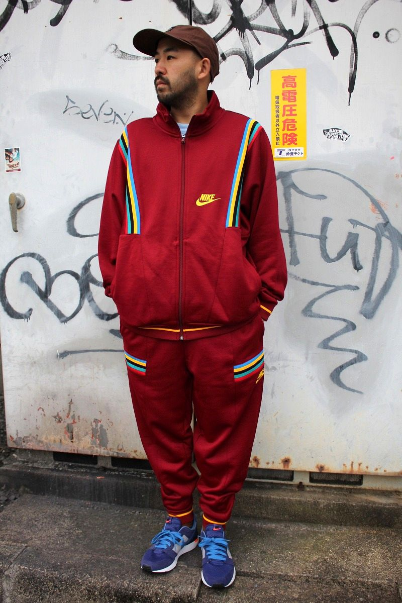 "NIKE / ""1988 SEOUL OLYMPIK"" LOOSE FIT SET UP JERSEY / burgundy"