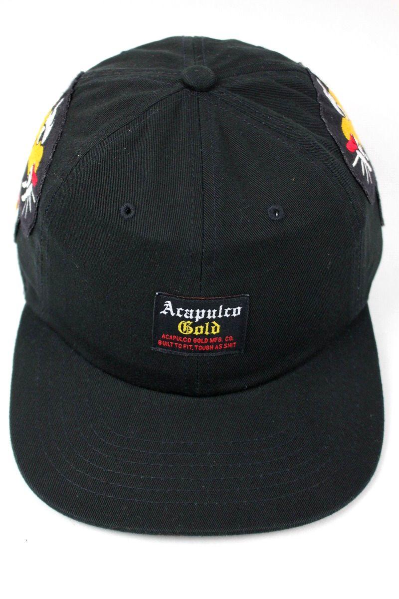 "ACAPULCO GOLD / ""SOUVENIR WAR"" STRAPBACK CAP / black"