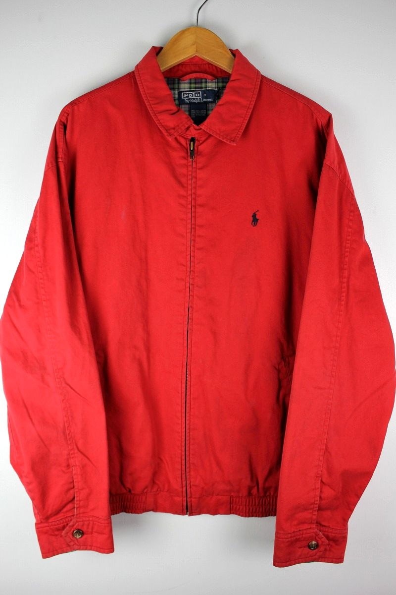 USED!!! POLO RALPH LAUREN / SWING TOP JACKET (90'S) / red