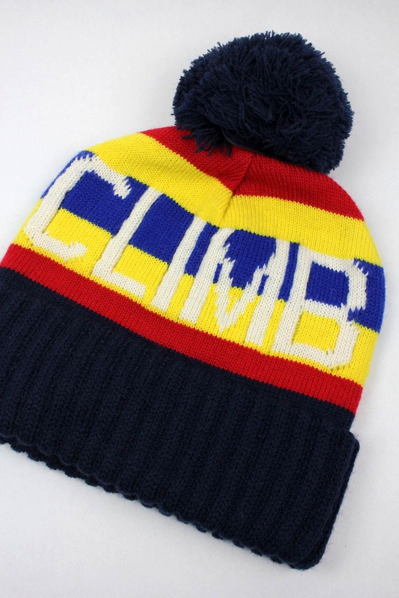 "POLO RALPH LAUREN / ""HI TECH - CLIMB"" POM POM KNIT BEANIE / red×yellow×blue×navy"