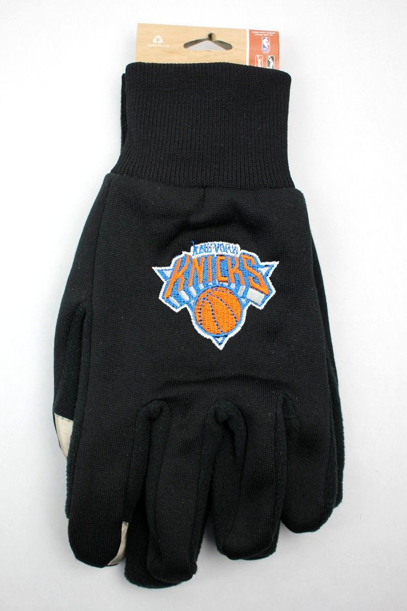 "FOREVER COLLECTIBLES / ""NEWYORK KNICKS"" TEXTING GLOVES / black"