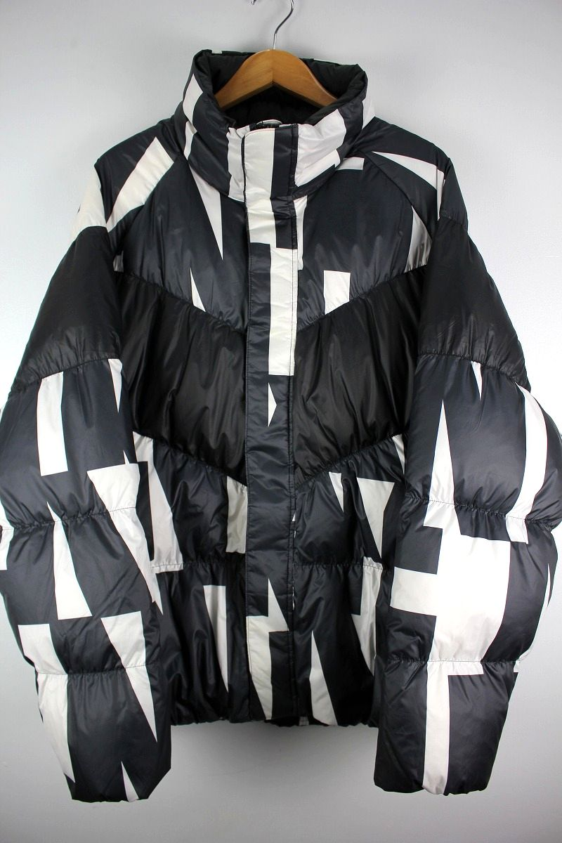 NIKE / ALL-OVER PRINT DOWN JACKET / black×white