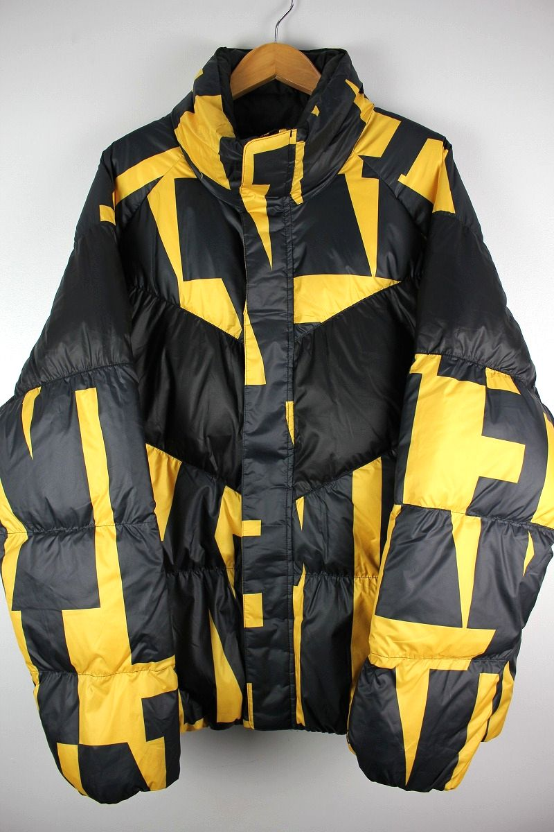 NIKE / ALL-OVER PRINT DOWN JACKET / black×yellow
