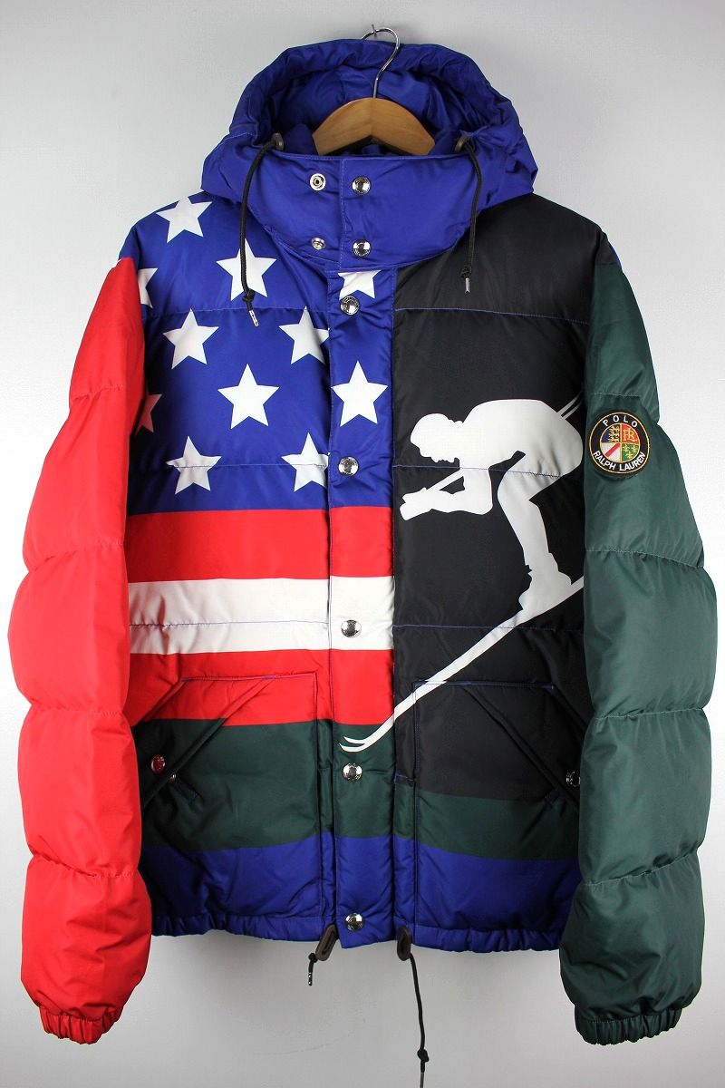 "POLO RALPH LAUREN / ""SKI 92"" HOODED DOWN JACKET"