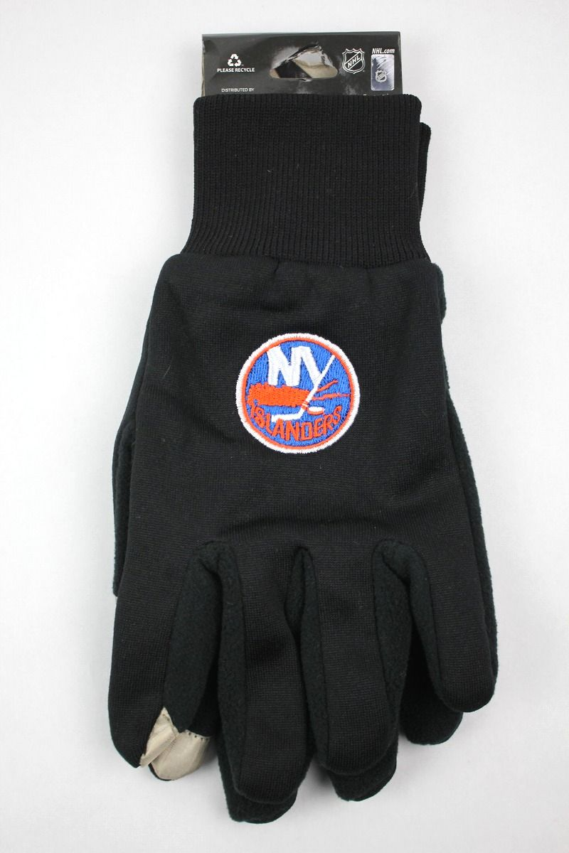 "FOREVER COLLECTIBLES / ""NEWYORK ISLANDERS"" TEXTING GLOVES / black"