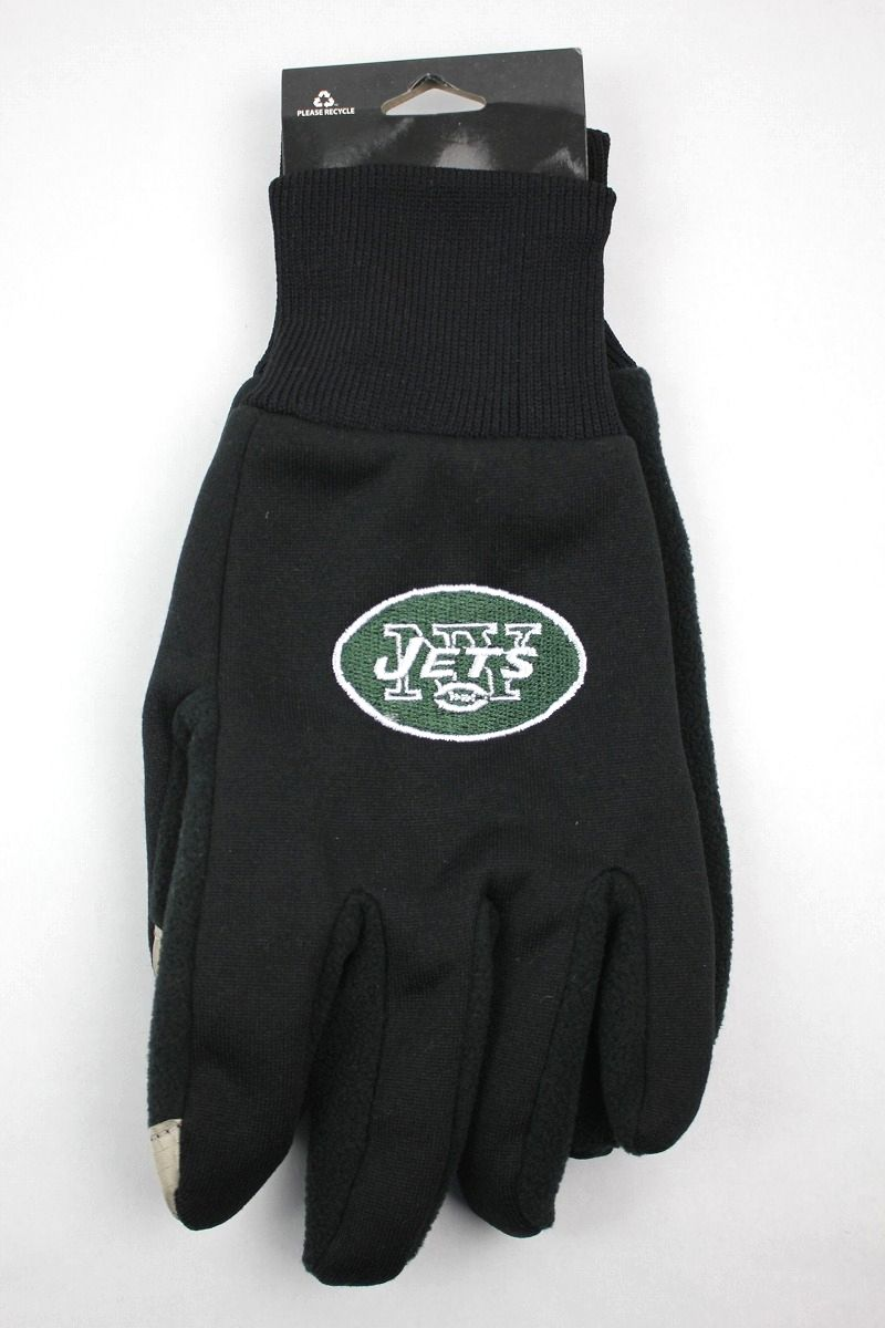"FOREVER COLLECTIBLES / ""NEWYORK JETS"" TEXTING GLOVES / black"