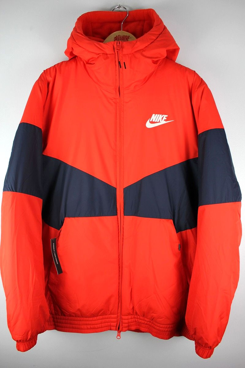NIKE / SYNTHETIC FILL HOODED JACKET / dark orange×navy