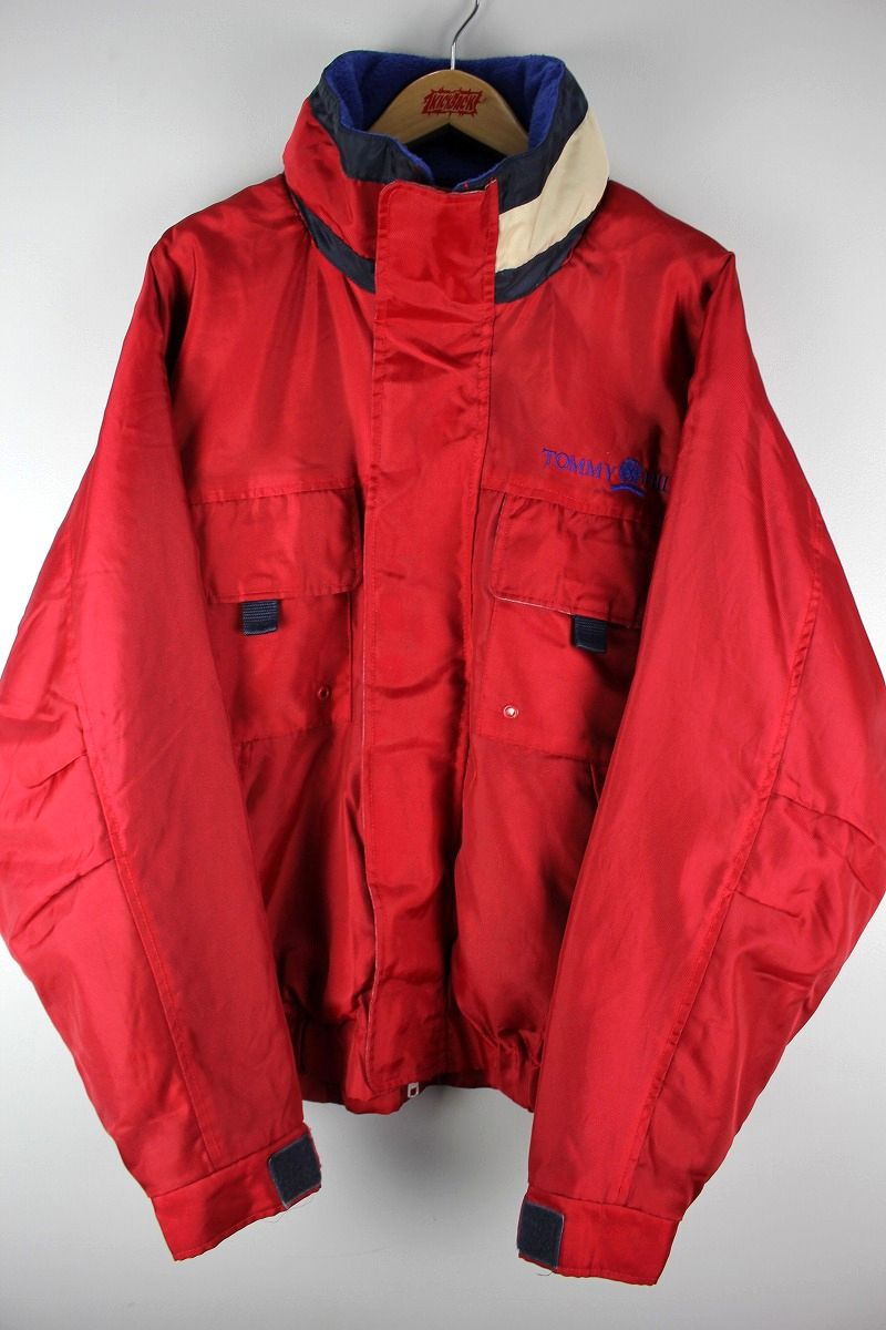 USED!!! TOMMY HILFIGER / SAILING JACKET (90'S) / red