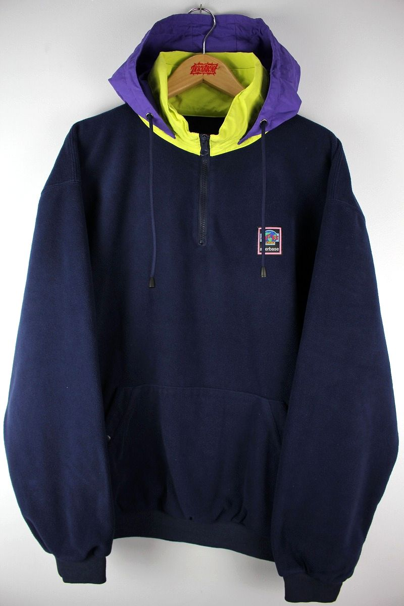 "AFTERBASE / ""OUTDOOR"" FLEECE PULLOVER JACKET / navy"