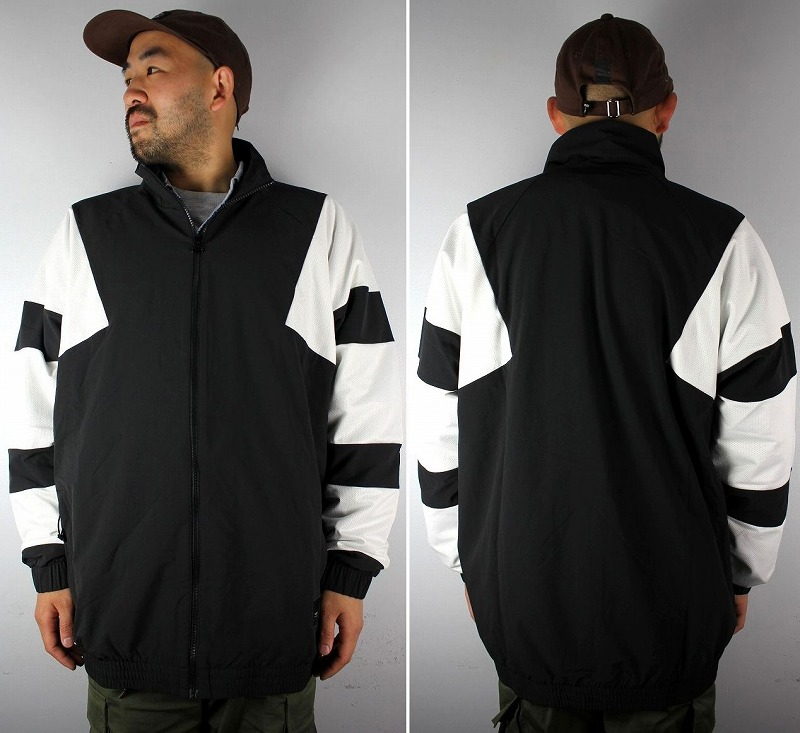 adidas EQUIPMENT / BOLD NYLON TRACK JACKET / black×white