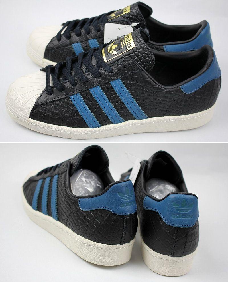 adidas ORIGINALS / SUPERSTAR 80s / black×steel blue×white