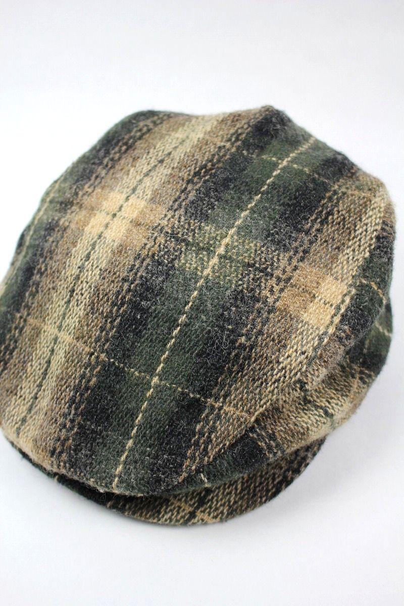 USED!!! NEWYORK HAT / OMBLE PLAID WOOL HUNTING (90'S)