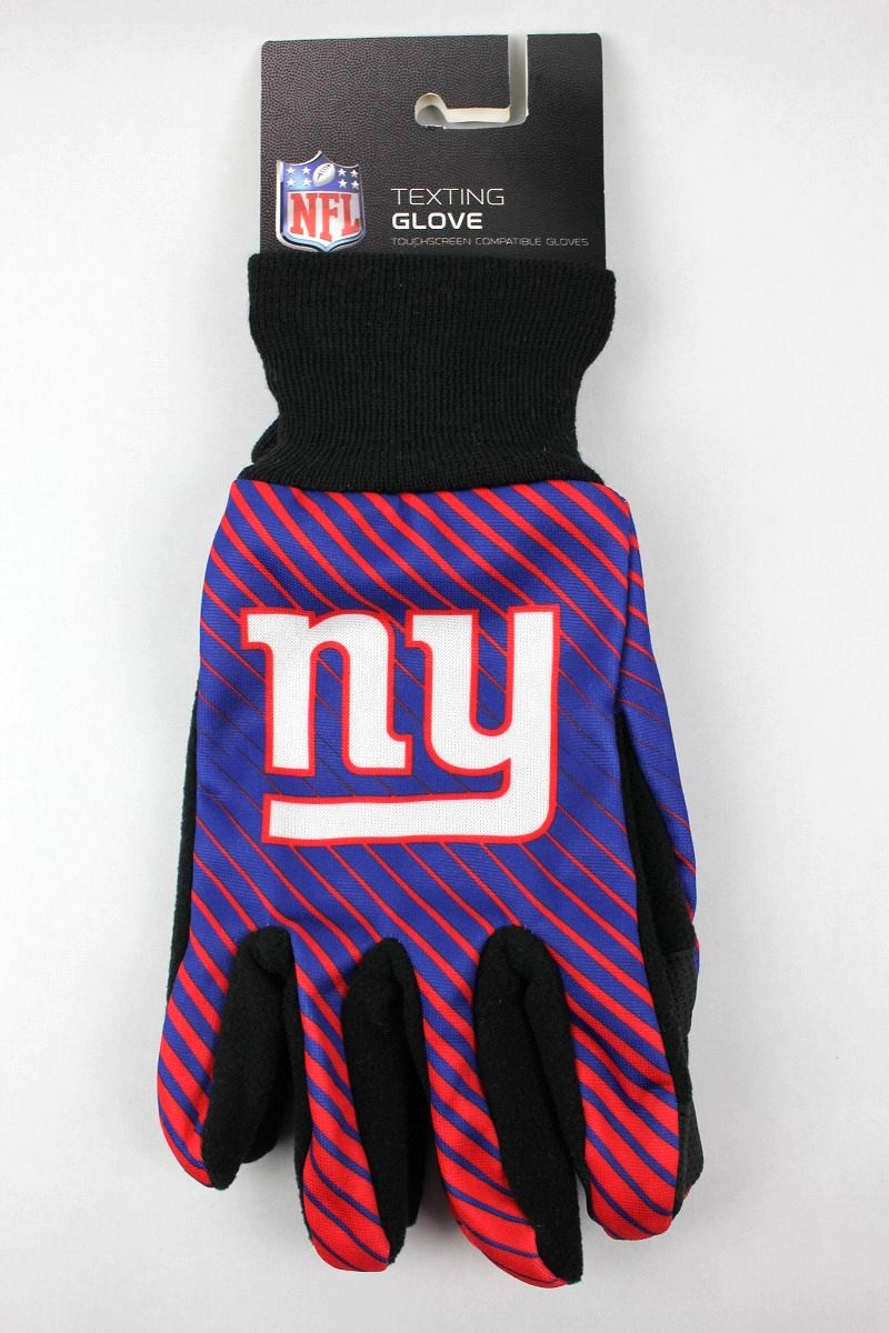 "FOREVER COLLECTIBLES / ""NEWYORK GIANTS"" TEXTING GLOVES / blue×red×black"