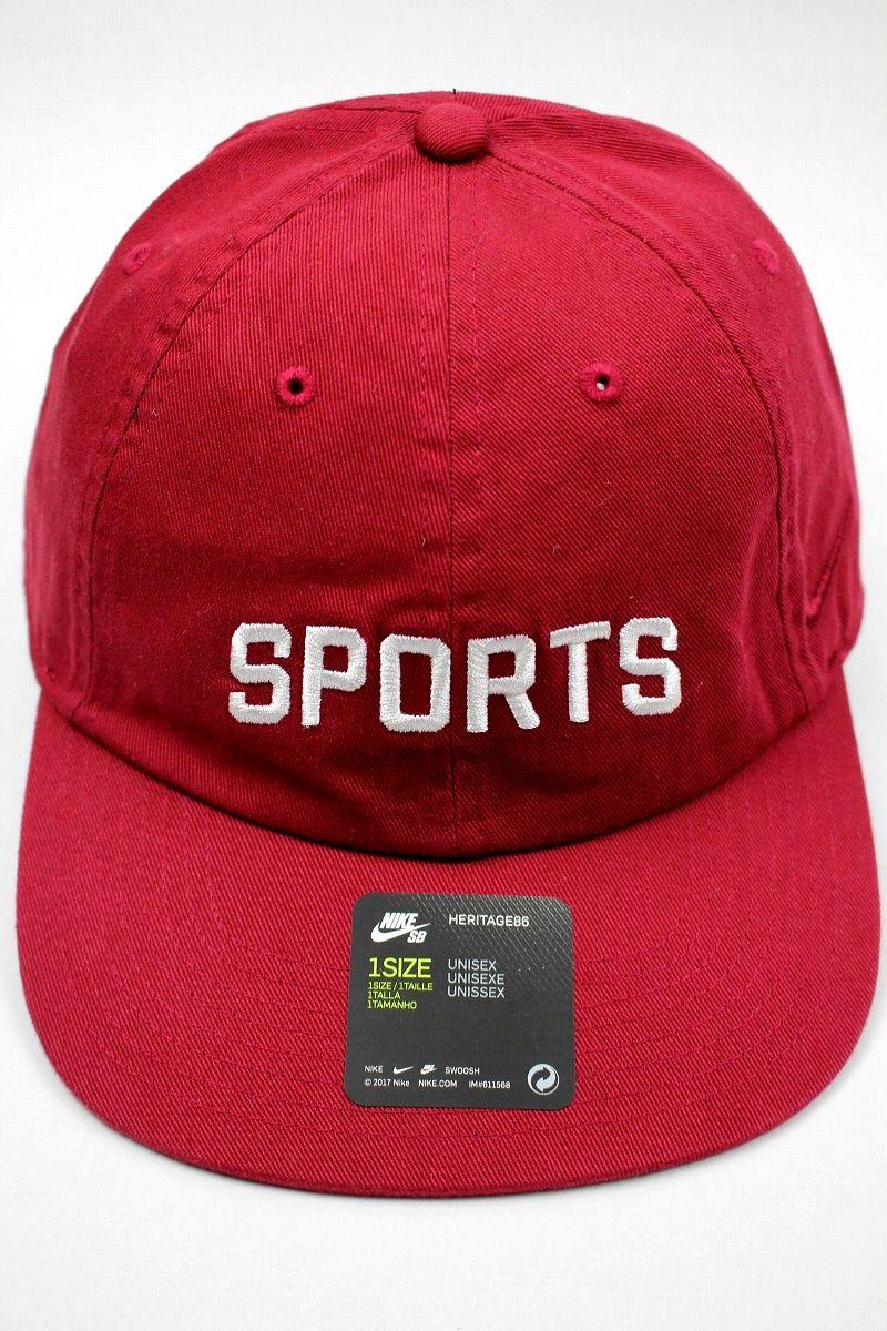 "NIKE SB / ""SPORTS"" STRAPBACK CAP / cardinal"