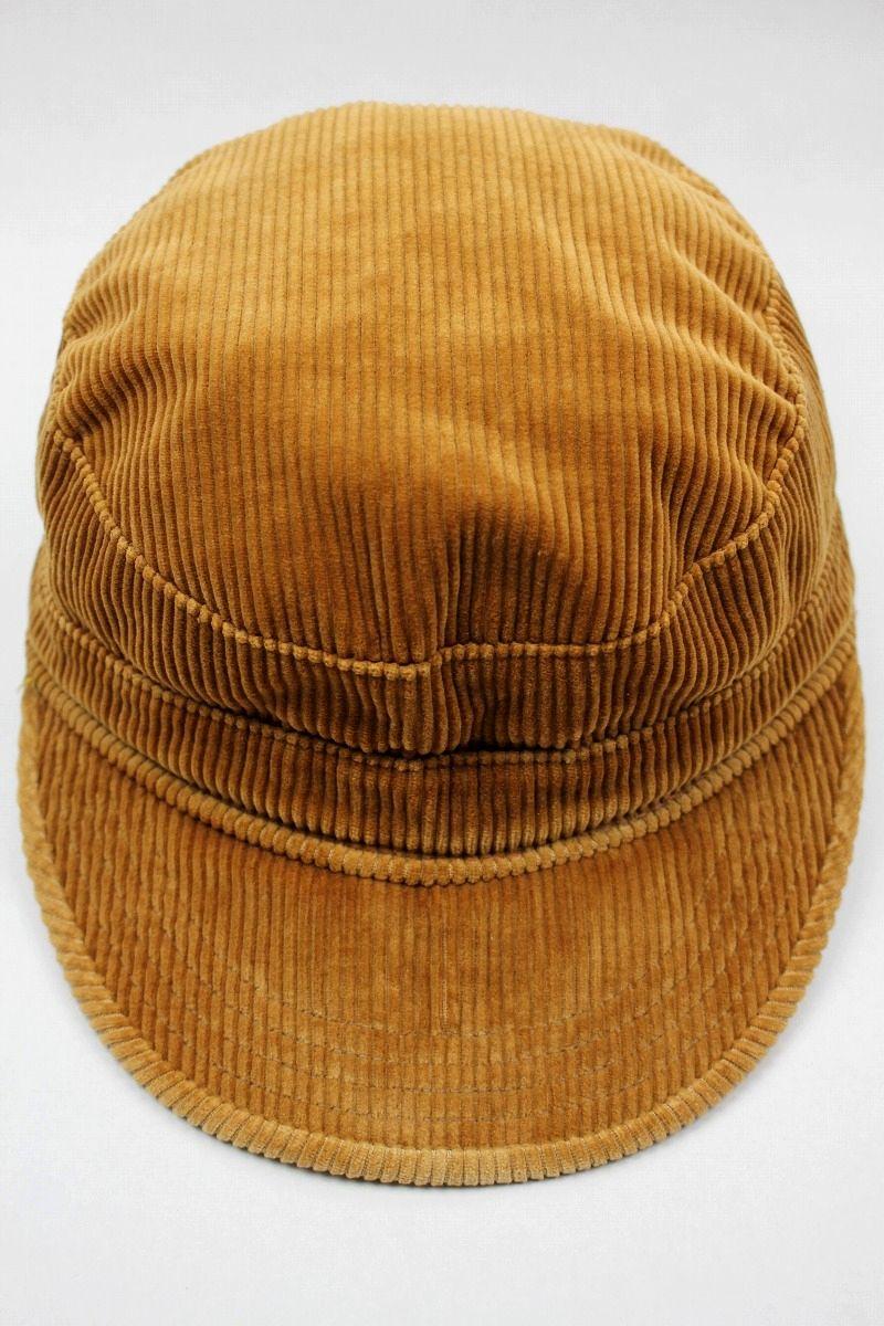 USED!!! NEWYORK HAT / CORDUROY WORK CAP (90'S) / brown