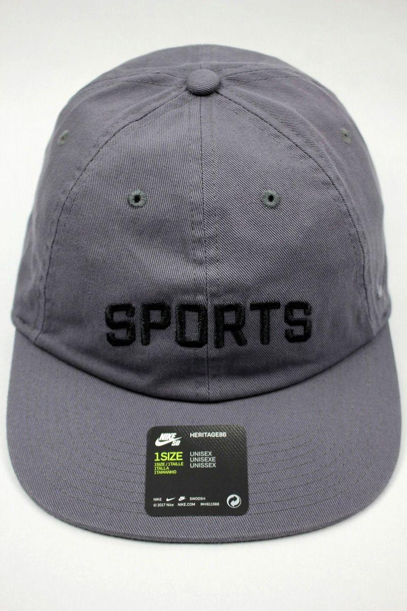 """NIKE SB / """"SPORTS"""" STRAPBACK CAP / chacoal"""
