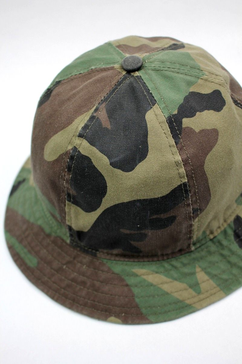 USED!!! NEWYORK HAT / CAMO BELL HAT (90'S) / woodland camo