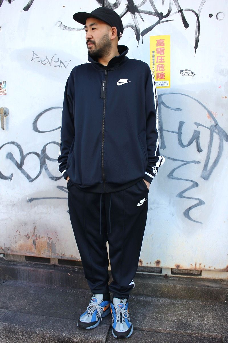 "NIKE / ""NSW"" LOOSE FIT SET UP TRACK JERSEY / navy×white"