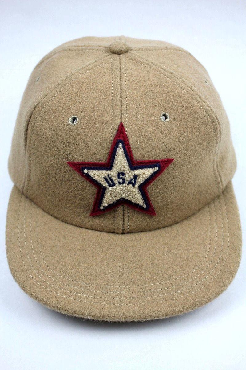 USED!!! EMERSON GLENN / WOOL STRAPBACK CAP (90'S) / beige