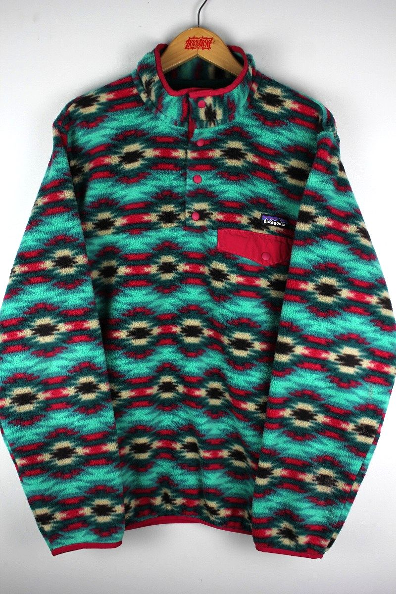 """USED!!! PATAGONIA / """"SYNCHILLA"""" PULLOVER FLEECE JACKET (00'S)"""