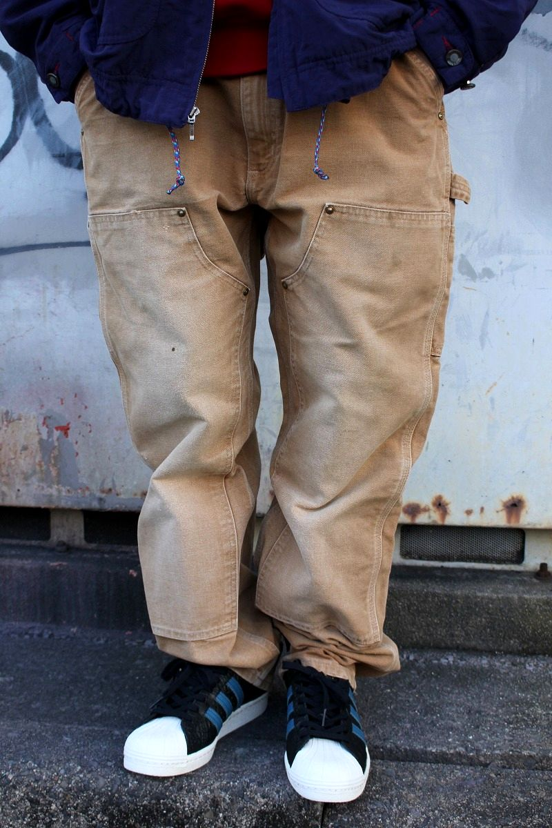 USED!!! CARHARTT / W KNEE PAINTER PANTS (00'S) / washed brown