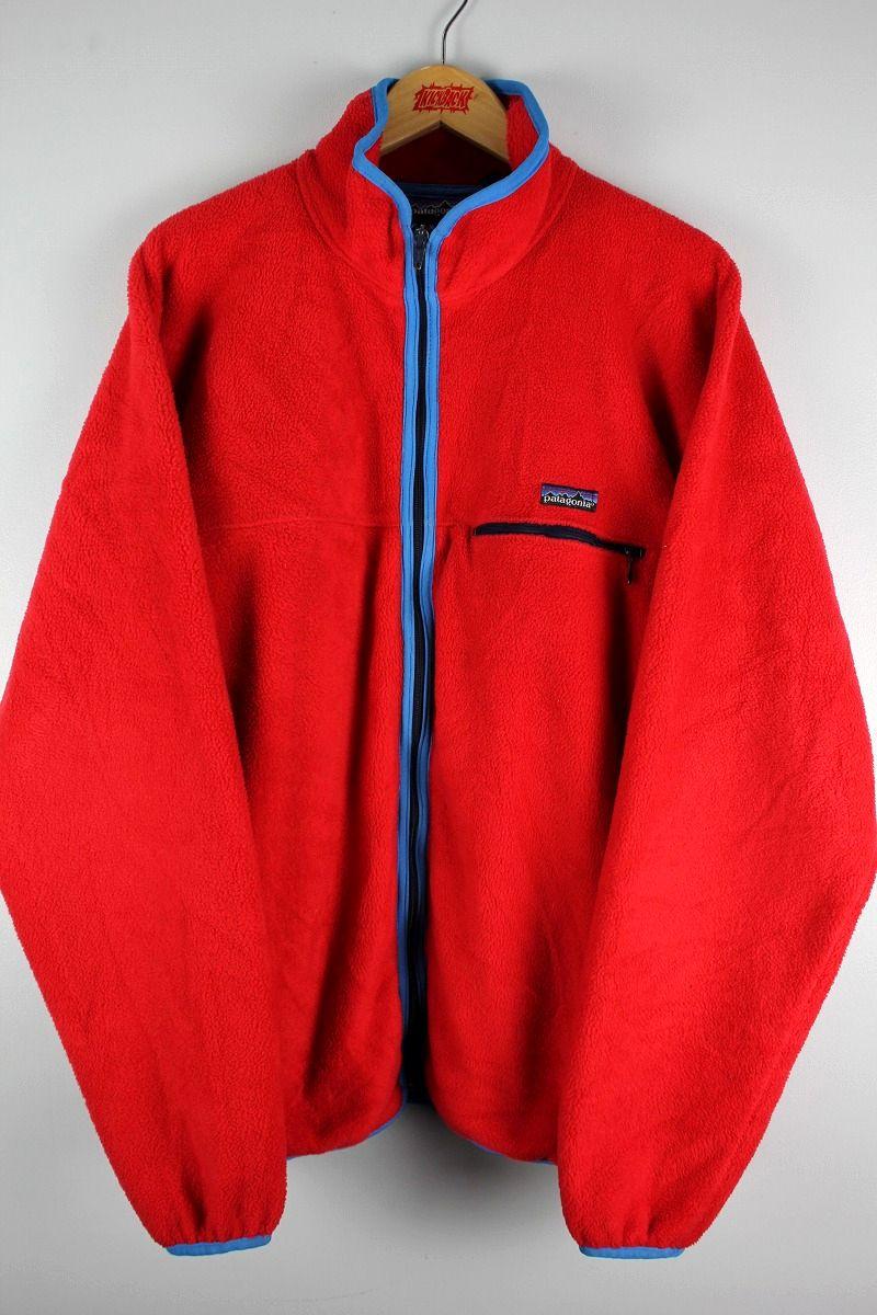 USED!!! PATAGONIA / ZIP UP FLEECE JACKET (90'S) / red×blue