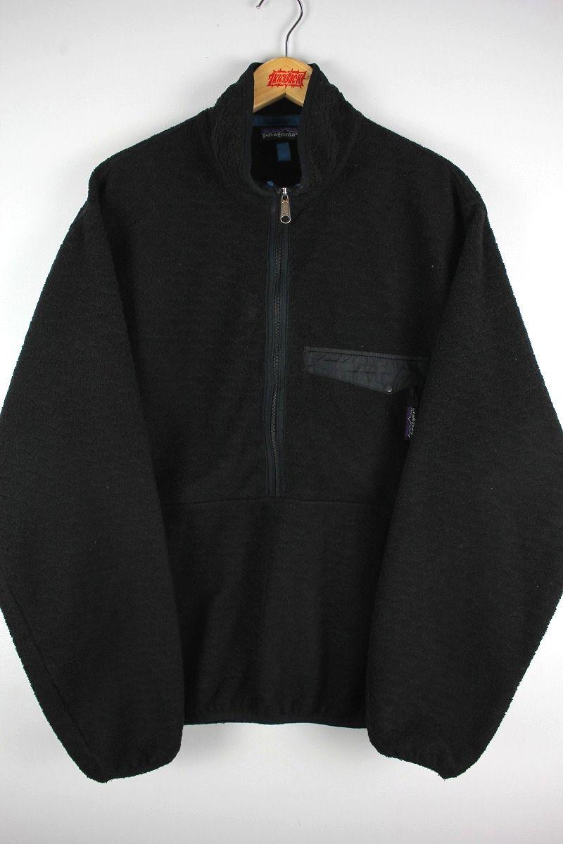 USED!!! PATAGONIA / HALF ZIP FLEECE JACKET (90'S) / black