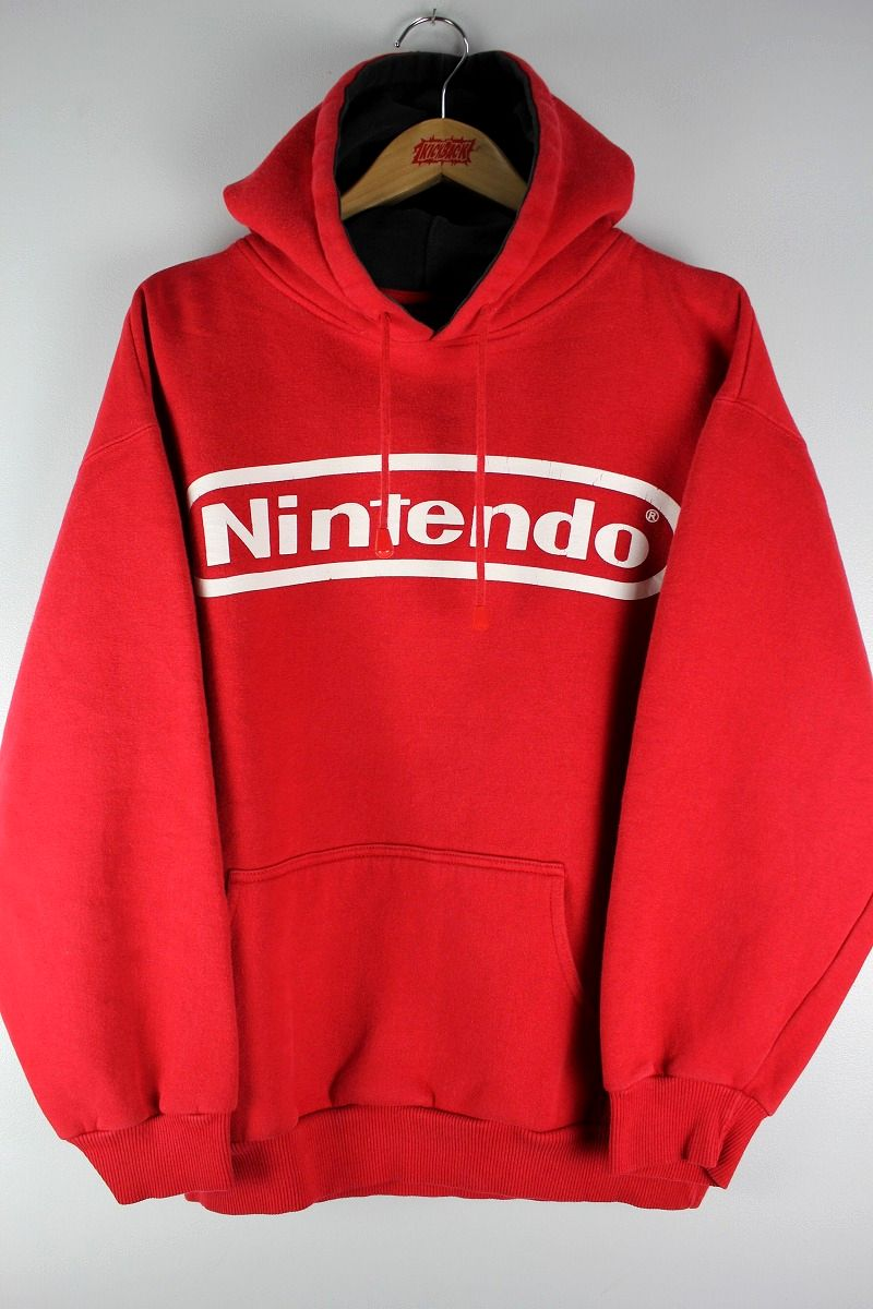 USED!!! NINTENDO / LOGO PULLOVER SWEAT HOODIE (00'S) / red